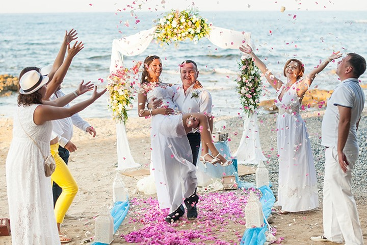 Symbolic wedding on Corfu island